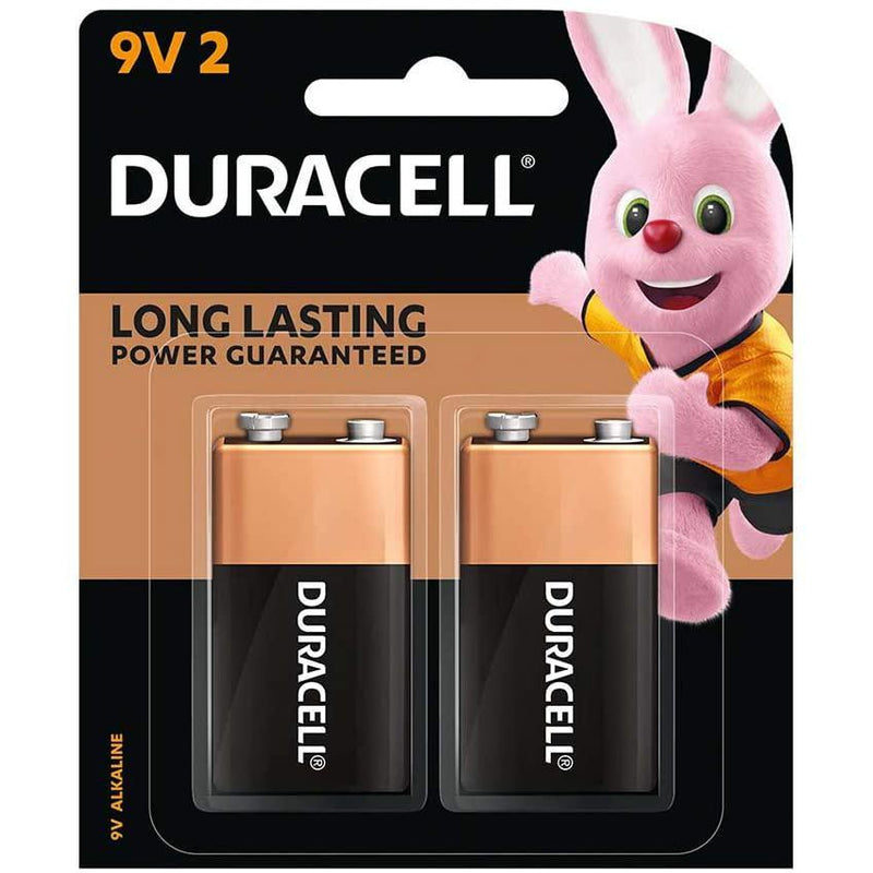 Duracell Coppertop 9V Batteries, Alkaline, 2 Pack