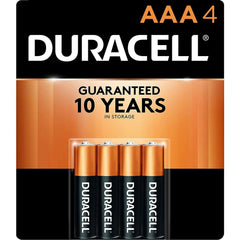 Duracell Coppertop AAA Batteries, Alkaline, 4 Pack