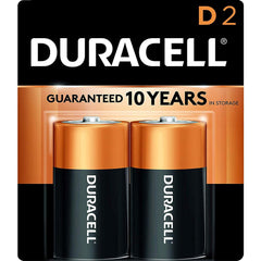 Duracell Coppertop D Batteries, Alkaline, 2 Pack