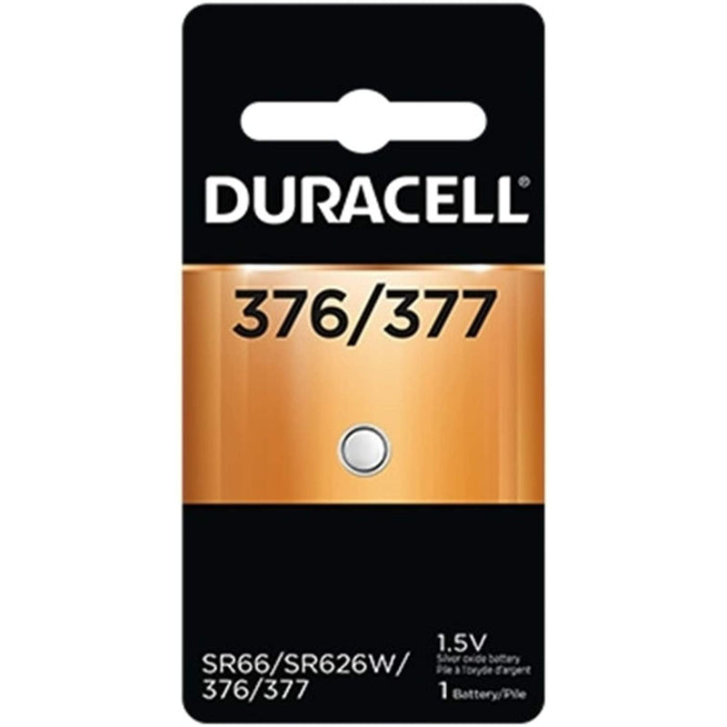 Duracell 376/377 1.5V Silver Oxide Button Battery, 1 Count