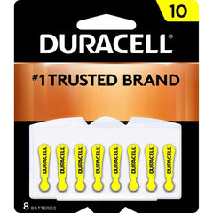Duracell Hearing Aid Batteries Size 10, with EasyTab for Ease of Installation, 8 Count