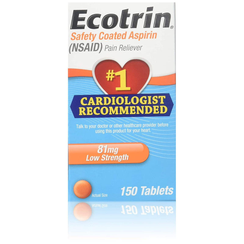 Ecotrin Low Strength Aspirin, 81 mg, Adult, 150 Tablets