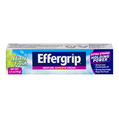 Effergrip Denture Adhesive Cream, Extra Strong Holding Power - 2.5 oz