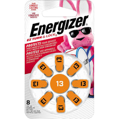Energizer Hearing Aid Batteries Size 13, EZ Turn & Lock, 8 Pack
