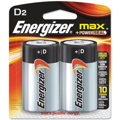 Energizer D Batteries, Max Alkaline Batteries, 2 Count