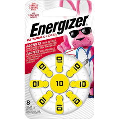 Energizer Hearing Aid Batteries Size 10, EZ Turn & Lock, 8 Pack