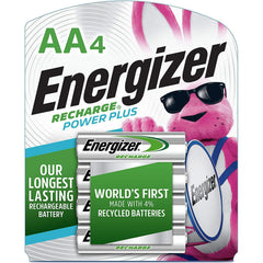 Energizer Rechargeable AA Batteries, NiMH, 2300 mAh, Pre-Charged, 4 Count