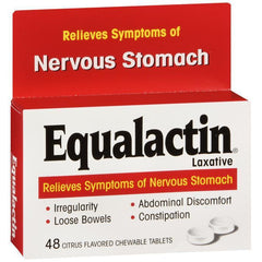 Equalactin Laxative, Citrus Flavored Chewable Tablets - 48 count