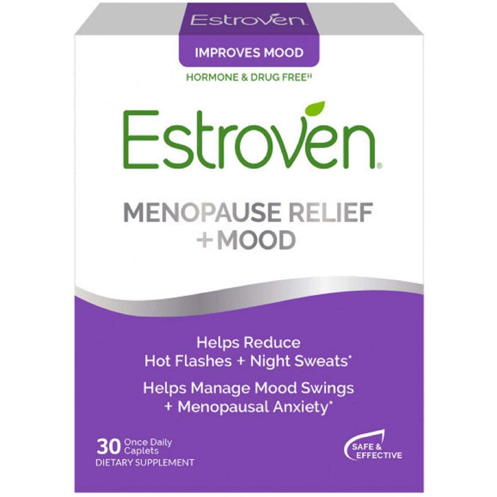 Estroven Stress Plus Mood & Memory | Menopause Relief Dietary Supplement, 30 caplets
