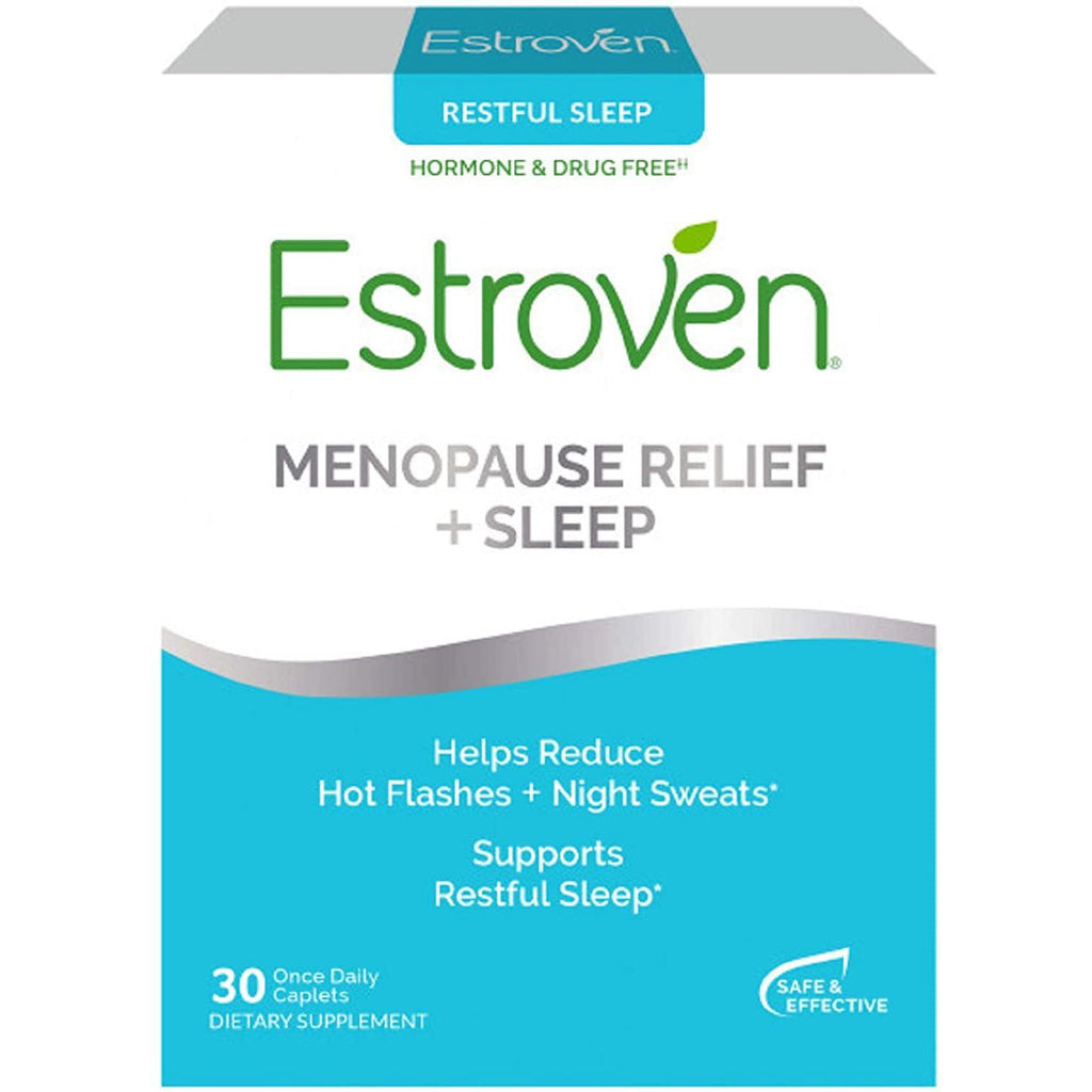 Estroven Restful Sleep Menopause Relief + Sleep, 30 caplets