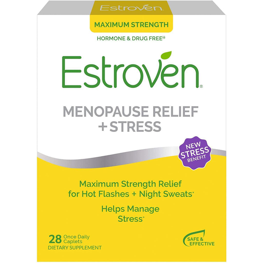 Estroven Max Strength Menopause Relief + Stress Dietary Supplement for Women