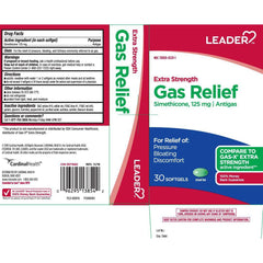 Leader Extra Strength Gas Relief - 30 softgels