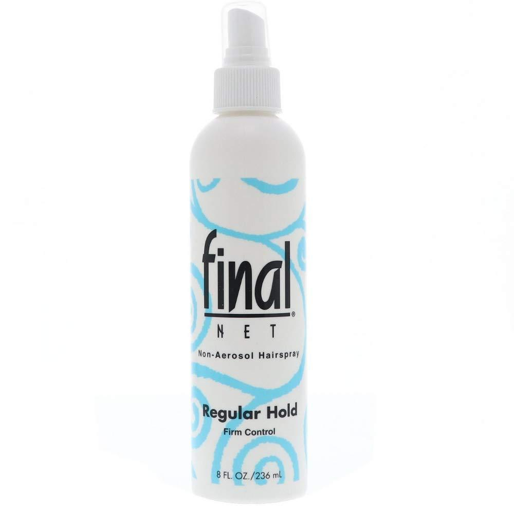 Final Net All Day Hold Hairspray, Regular Hold Unscented, 8 oz.