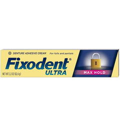 Fixodent Ultra Max Hold Dental Adhesive - 2.2 Oz