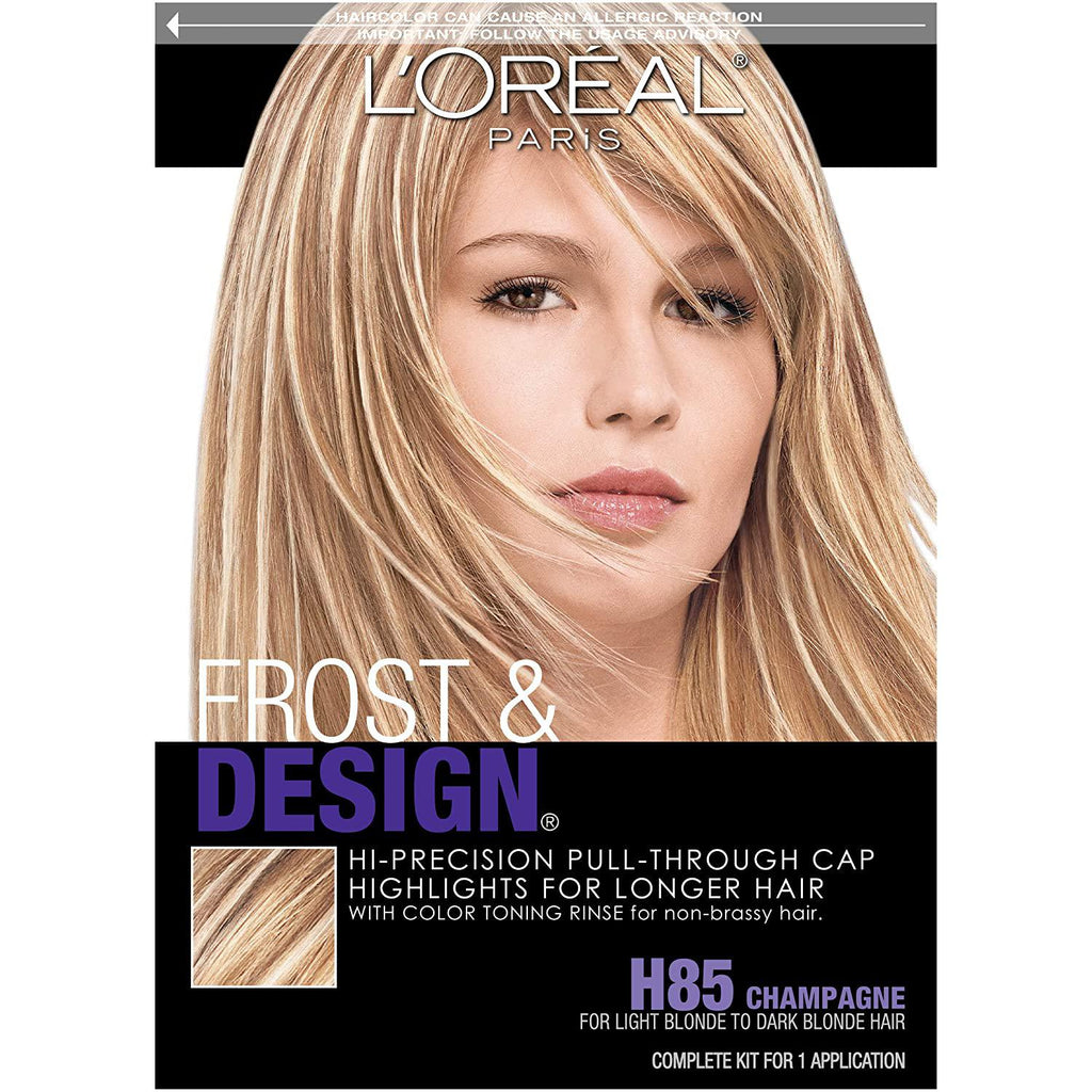 L'Oreal Paris Frost and Design Cap Hair Highlights For Long Hair, H85 Champagne
