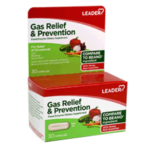 Leader Gas Relief & Prevention - 30 Capsules