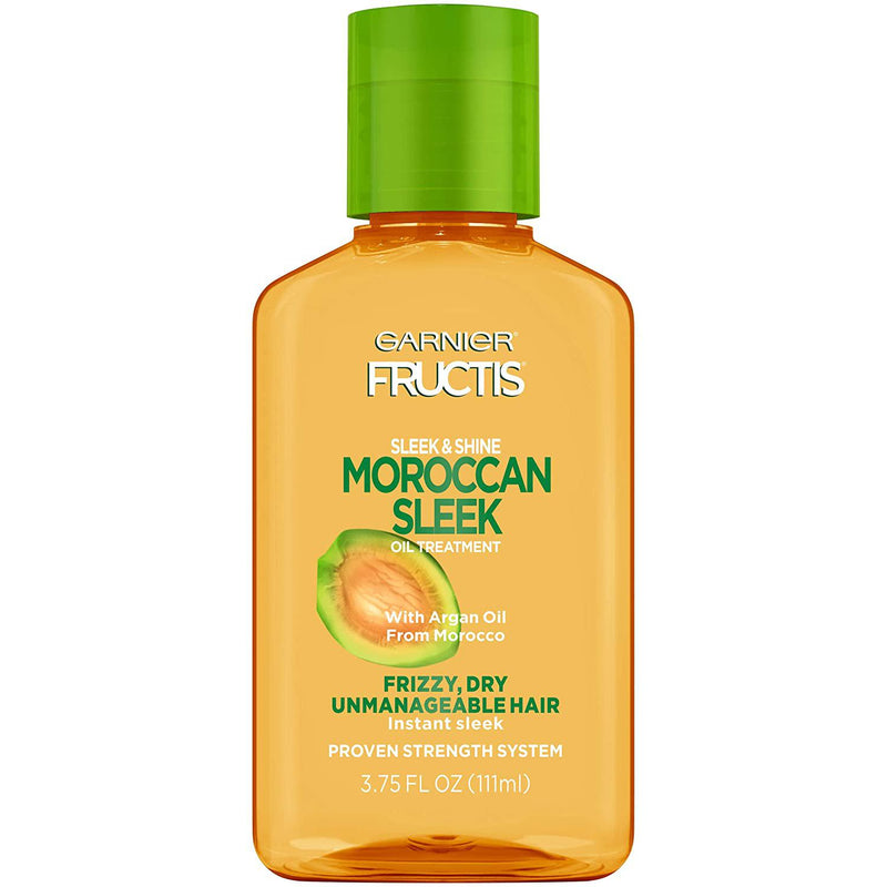 Garnier Fructis Sleek & Shine Moroccan Sleek Oil Treatment, Frizzy, Dry Hair, 3.75 Fl. Oz