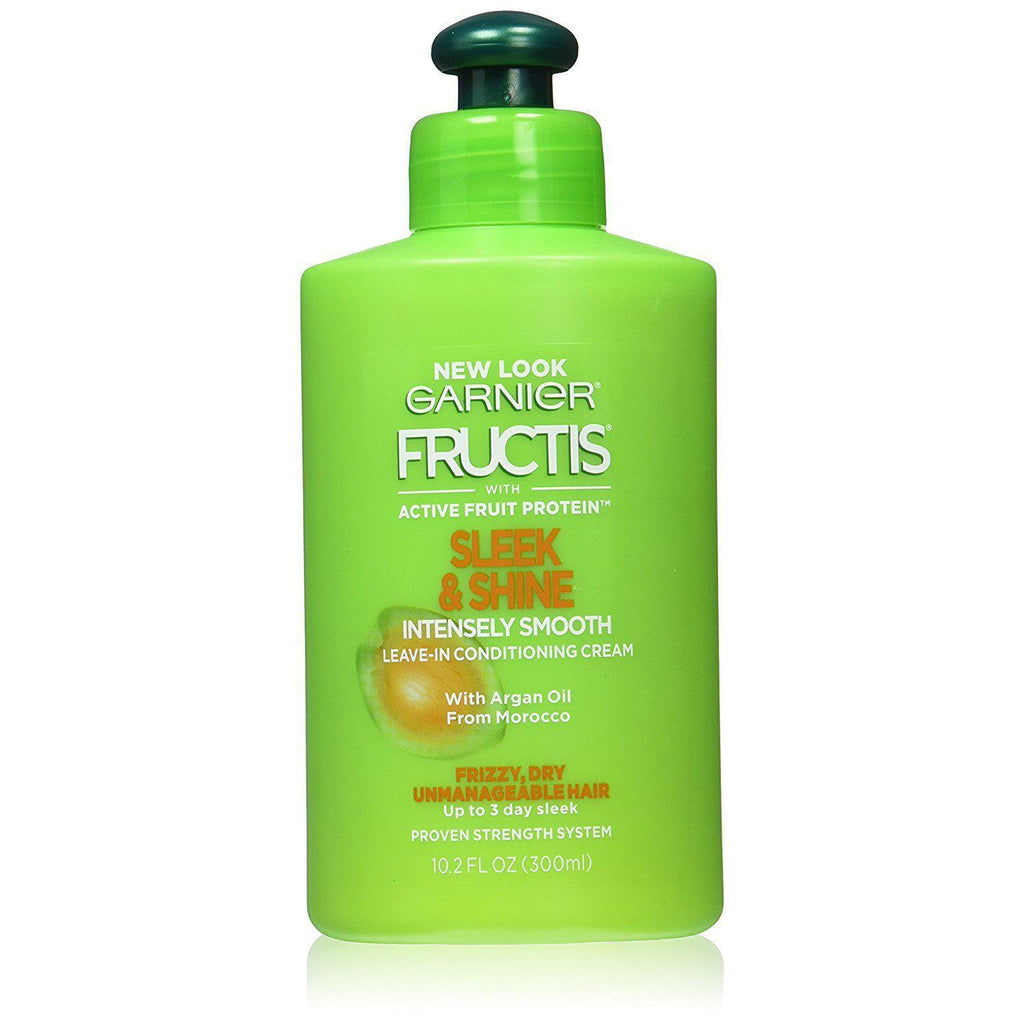 Garnier Fructis Sleek and Shine Intensely Smooth Leave-In Conditioning Cream, 10.2 Fl Oz.