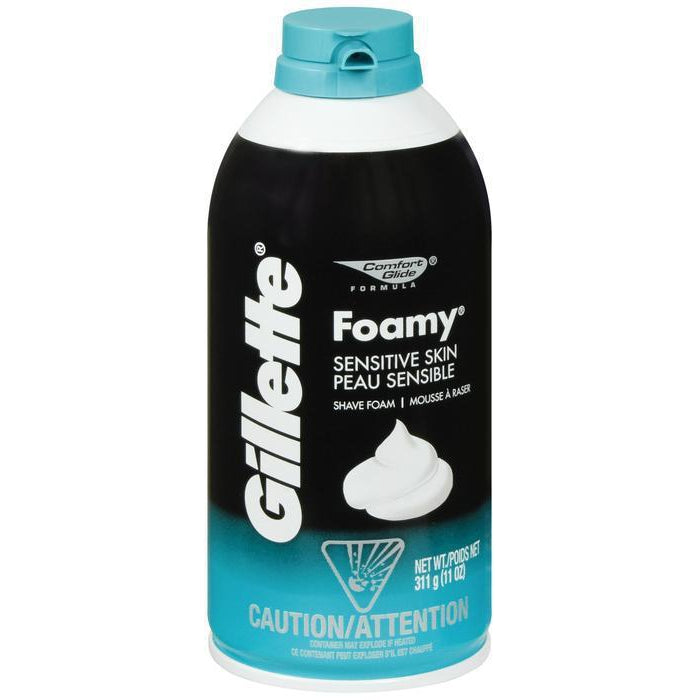 Gillette Foamy Shaving Cream, Sensitive Skin - 11 oz