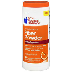 GNP Fiber Powder, Orange Flavor - 48 teaspoon servings