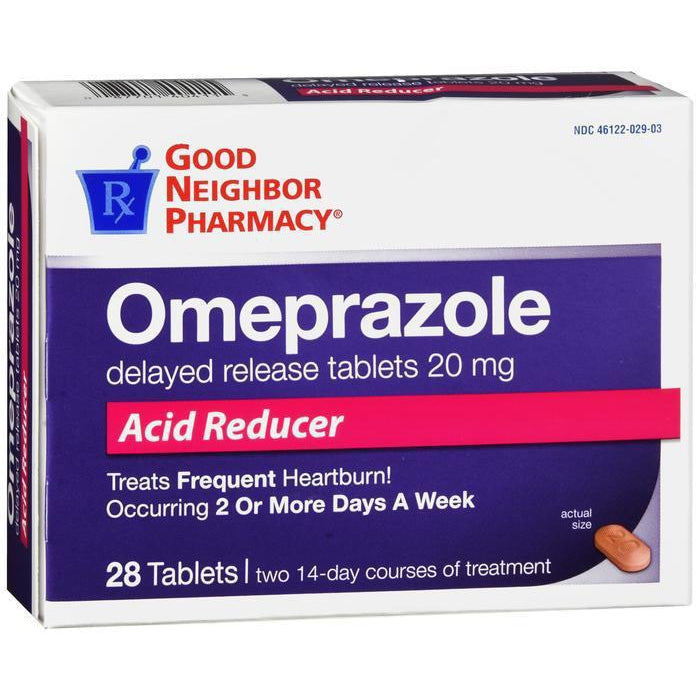 GNP Omeprazole Delayed Release Tablets - 28 count