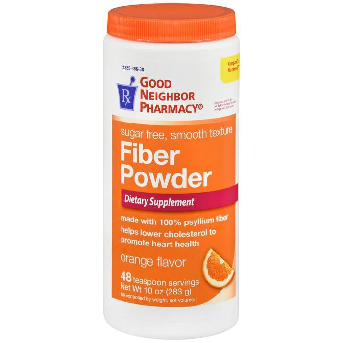 GNP Fiber Powder, Sugar Free, Orange Flavor - 48 teaspoon serv 10oz