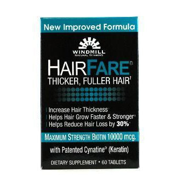 Windmill Hair Faire for Thicker & Fuller Hair - 60 tablets