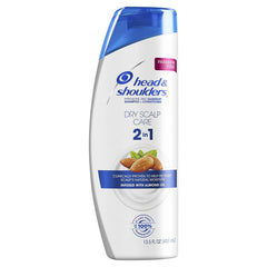 Head and Shoulders Dry Scalp Care with Almond Oil 2-in-1 Anti-Dandruff Paraben Free Shampoo + Conditioner 13.5 fl oz