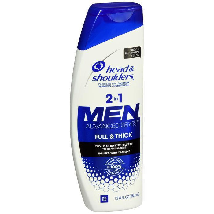 Head and Shoulders Men's Full and Thick Dandruff 2-in-1 Shampoo and Conditioner, 12.8 Ounce