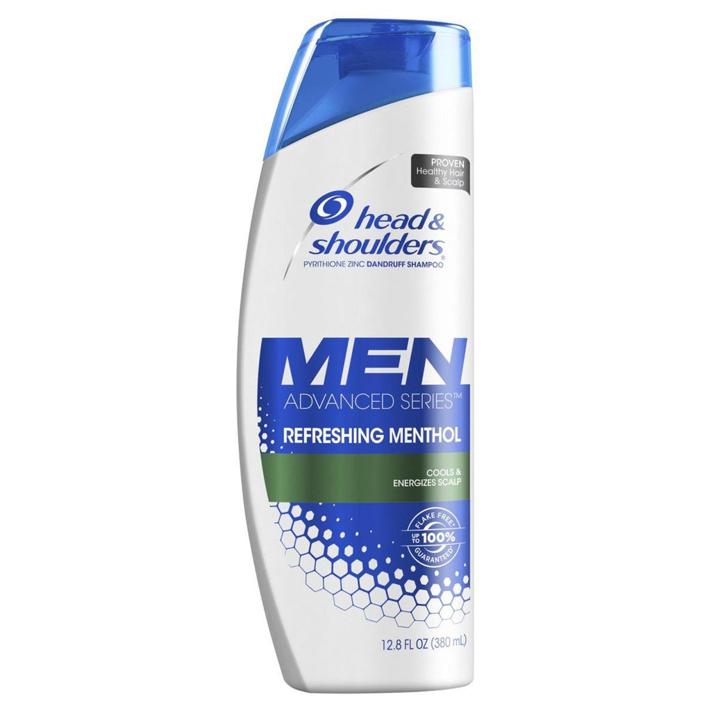 Head and Shoulders Men's Refreshing Menthol Anti- Dandruff Shampoo, 12.8 Ounce