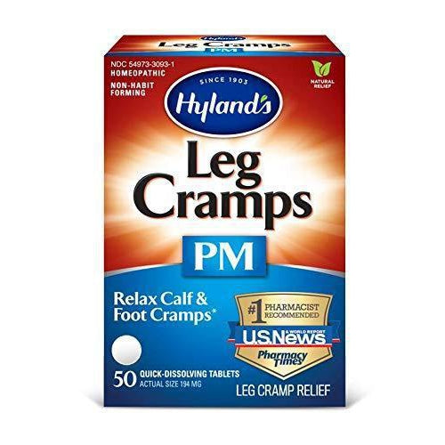 Hyland's Leg Cramps PM Nighttime Tablets, Natural Relief of Calf, Leg and Foot Cramp at Night, 50 Count