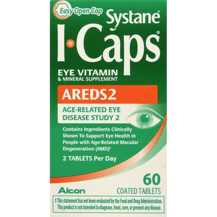 Systane I-Caps AREDS 2 Eye Vitamin & Mineral Supplement, 120 Coated Tablets