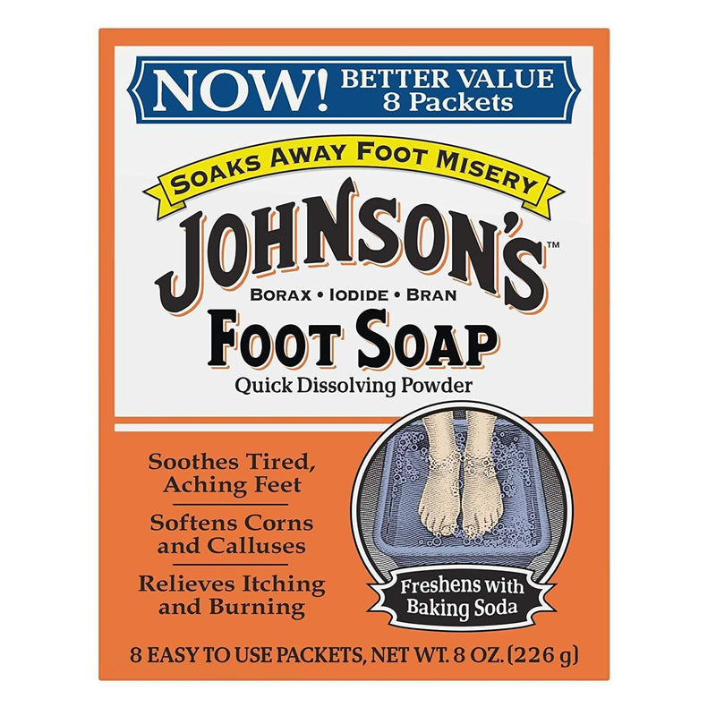 Johnson's Foot Soap, 8 Packets, 1 Ounce per Packet