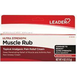 Leader Ultra Strength Muscle Rub Cream, 4 oz.