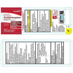 Leader Acetaminophen Extra Strength 500mg Softgels, 40 Count