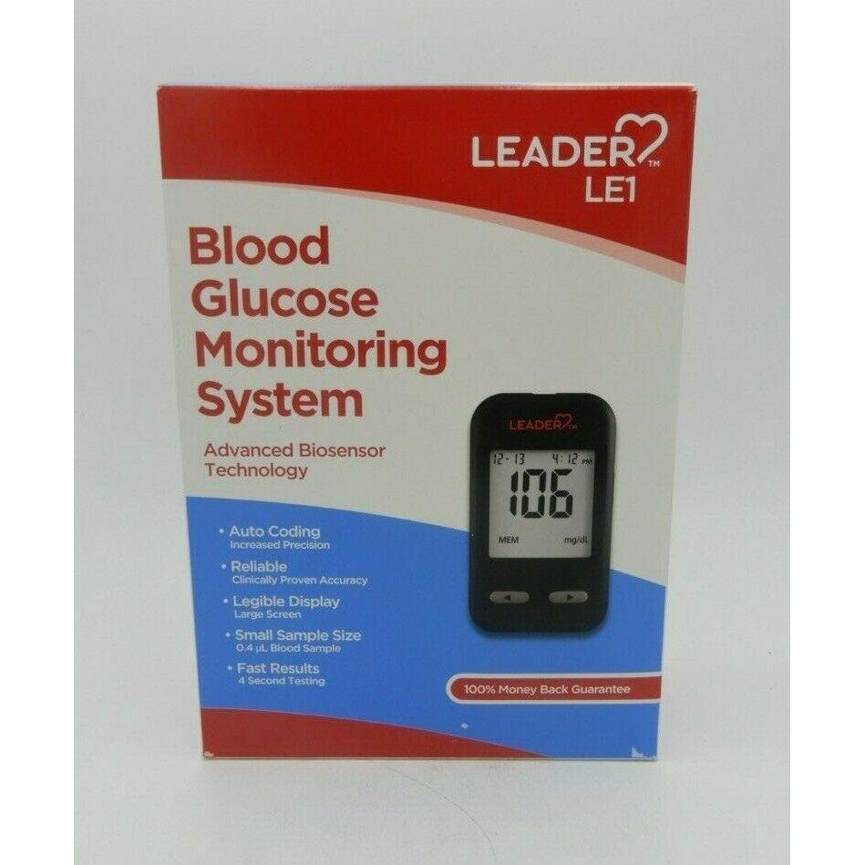 Leader LE1 Blood Glucose Monitoring System, 1 count