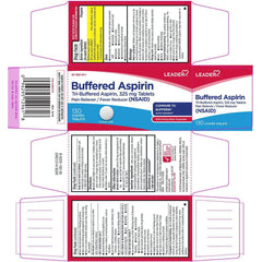 Leader Buffered Aspirin 325mg Tablets, 130 Count