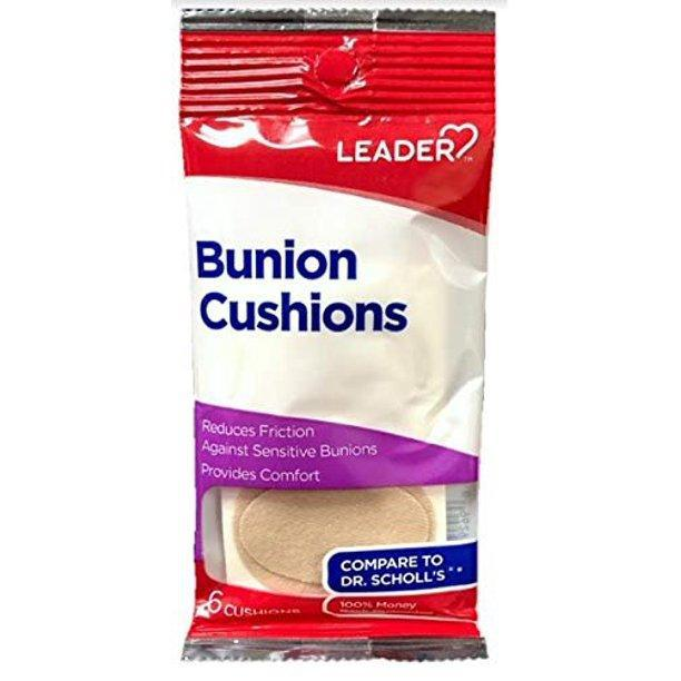 Leader Bunion Cushions, 6 Count