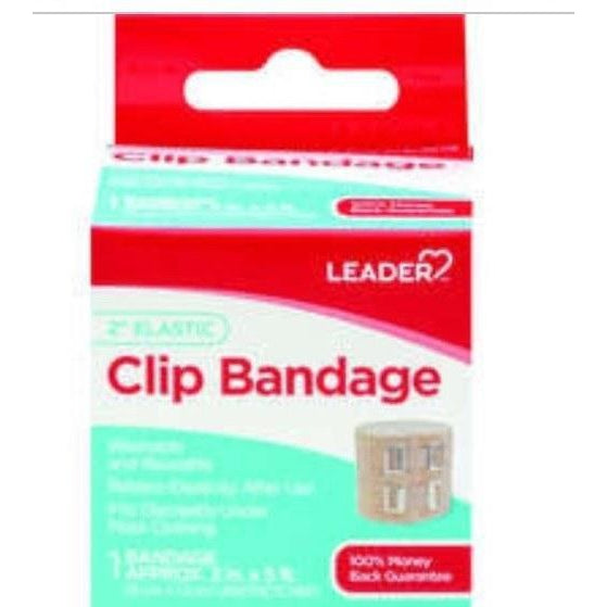 "Leader 2"" Elastic Clip Bandage, 2"" x 5', One Count"
