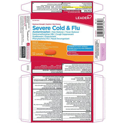 Leader Severe Cold & Flu| Maximum Strength| Non-Drowsy| Daytime, 12 Caplets in one Box
