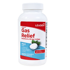 Leader Gas Relief, Mint Chewable Tablets - 100 count