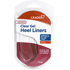 Leader Heel Liners Men and Women, One Pair