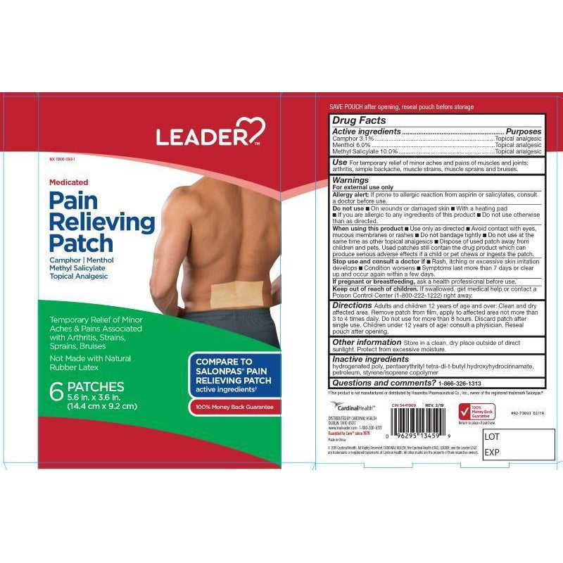 Leader Pain relief Patches, 6 Count