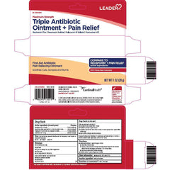 Leader Triple Antibiotic Ointment + Pain Relief, 1 Oz