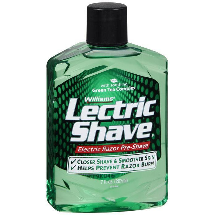 Williams Lectric Shave, Electric Razor Pre-Shave for Men, Green Tea Complex - 7 oz