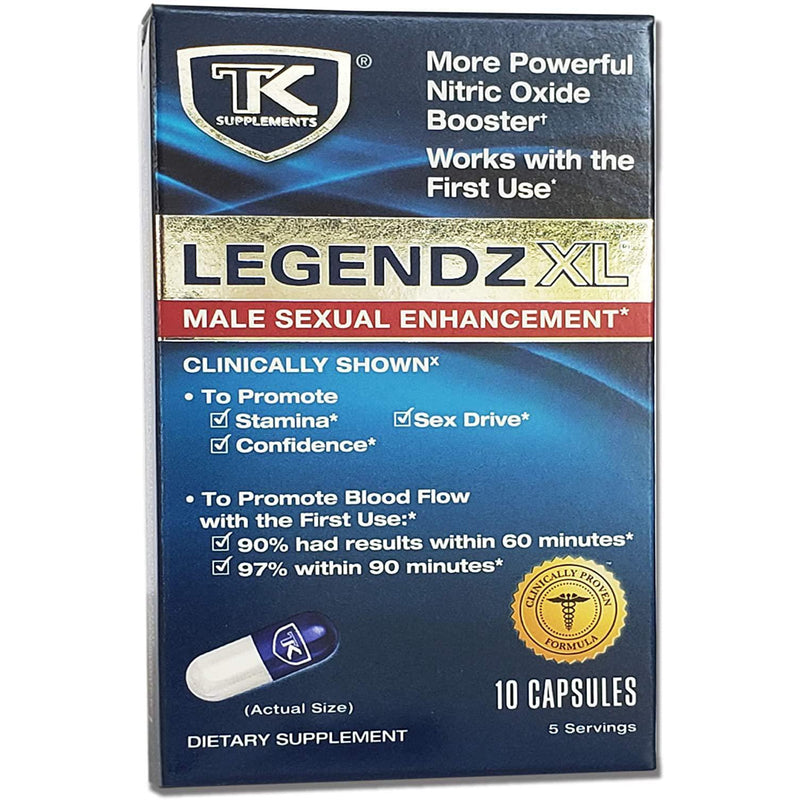 TK Supplements Legendz XL Male Enhancement - Promotes Stamina, Confidence and Sex Drive - Works with the First Use