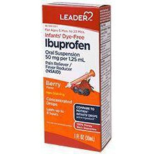 Leader Infant's Oral Suspension, 50mg Ibuprofen, Berry Flavored, 1 fl. oz