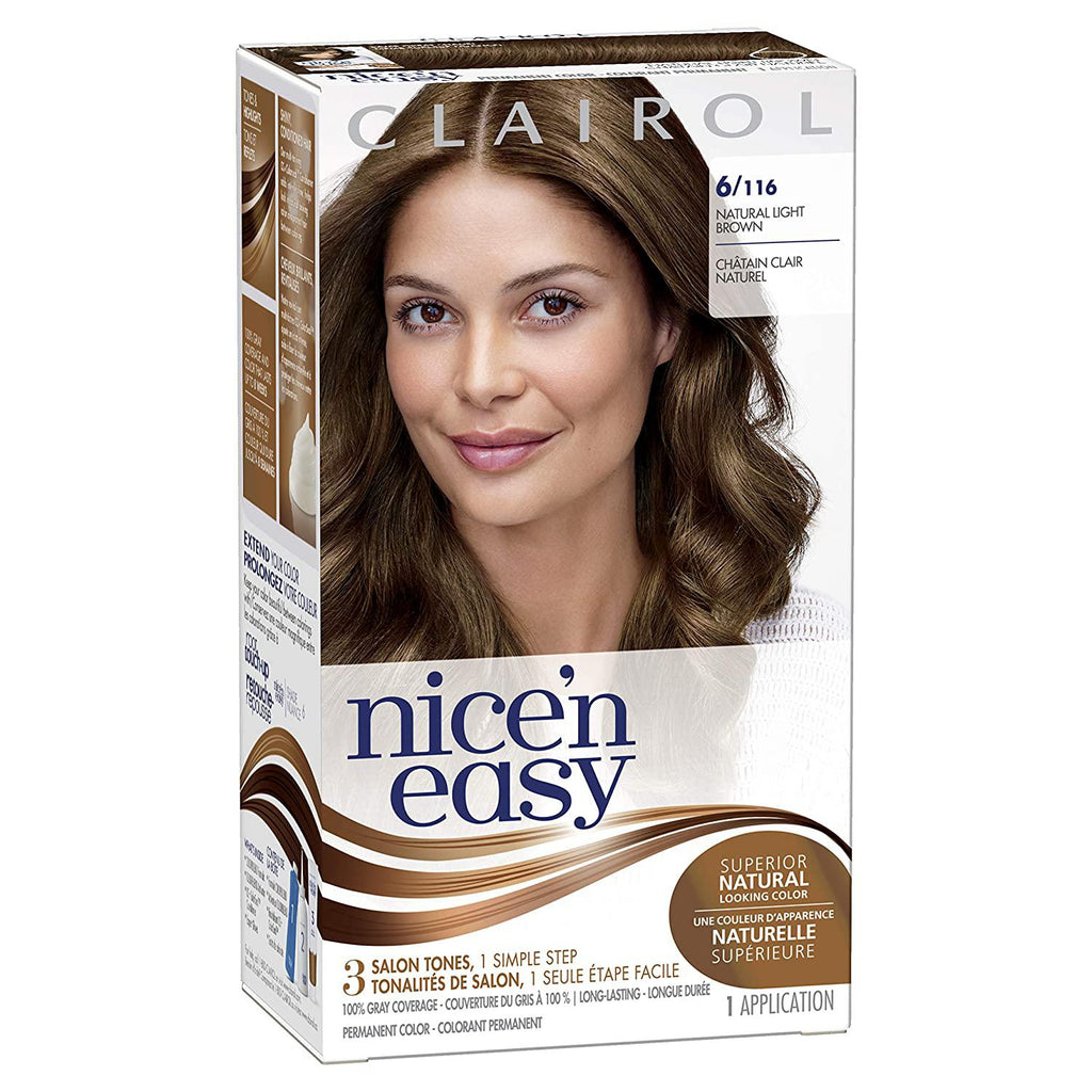 CLAIROL Nice 'n Easy Permanent Color, 6  Natural Light Brown, 1 COUNT