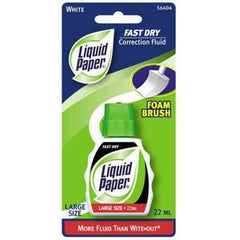 Paper Mate Liquid Paper Fast Dry Correction Fluid, 22 mL, 1 Count