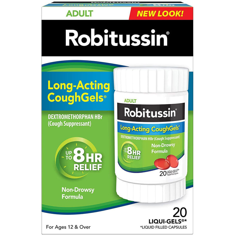 Robitussin Adult Long-Acting CoughGels (20 Count)